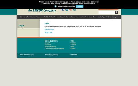 Screenshot of Login Page usmservices.com - Login :: USM - captured Oct. 20, 2018