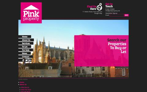 Screenshot of Site Map Page pinkproperty.net - Sitemap - captured Oct. 1, 2014