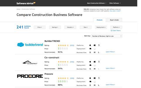 Top Construction Management Software - 2016 Reviews