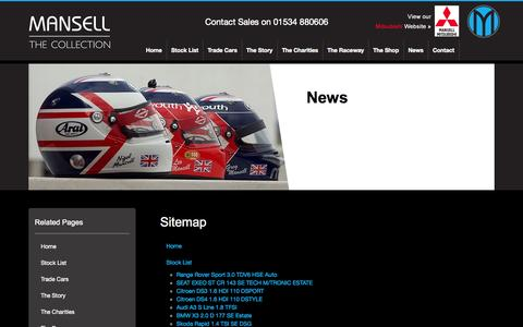 Screenshot of Site Map Page themansellcollection.co.uk - The Mansell Collection :: Sitemap - captured Oct. 9, 2014