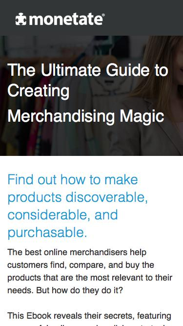 The Ultimate Guide to Creating Merchandising Magic | Ebook from Monetate