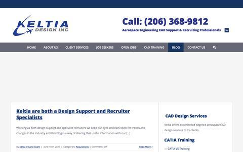 Screenshot of Blog keltia-design.com - Blog | Latest News | Keltia Design Inc. - captured Oct. 17, 2017