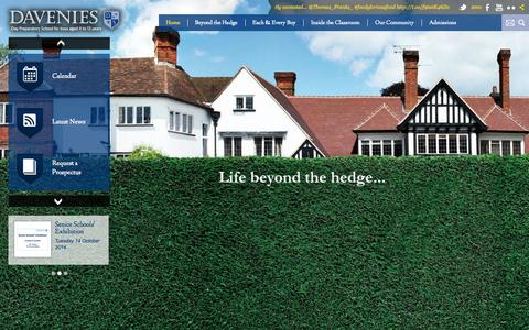 Screenshot of Home Page davenies.co.uk - Welcome to Davenies School - captured Oct. 5, 2014