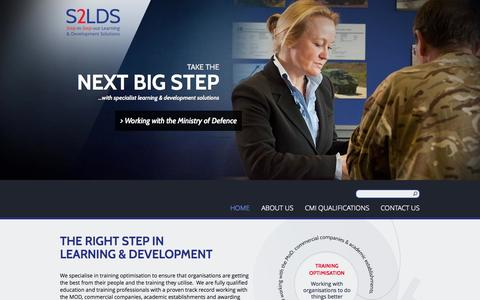 Screenshot of Home Page s2lds.com - S2LDS   Take your next big step - captured Oct. 3, 2014