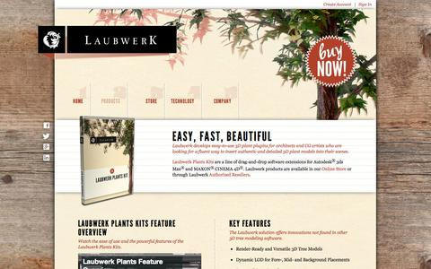 Screenshot of Products Page laubwerk.com - Laubwerk - Products (3D Plant Models) - captured Sept. 29, 2014