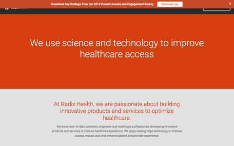 Screenshot of About Page radixhealth.com - About us — Radix Health - captured July 8, 2018