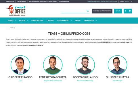 Screenshot of Team Page mobiliufficio.com - Negozio E-commerce Mobili e Arredamento Ufficio: Team MobiliUfficio.com - captured Dec. 21, 2018