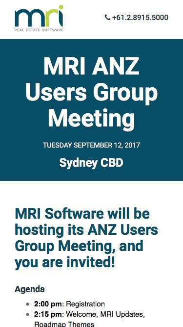 ANZ User Group Meeting 2017