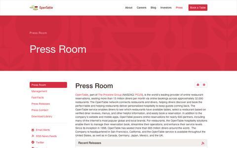 Press Room | OpenTable, Inc.