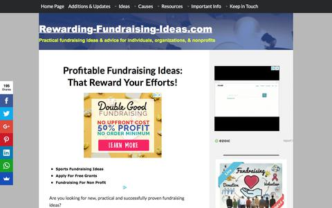 Screenshot of Home Page rewarding-fundraising-ideas.com - Rewarding Fundraising Ideas: The BEST Fundraisers & Tips - captured Sept. 22, 2018