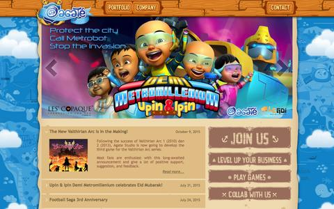 Screenshot of Home Page agatestudio.com - Agate Studio - Indonesian Game Developer - captured Dec. 24, 2015