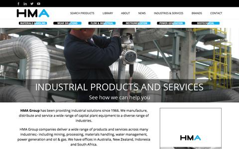 Screenshot of Home Page hmagrp.com - HMA Group - Engineered Products & Solutions For Todays Industry - captured Sept. 25, 2018