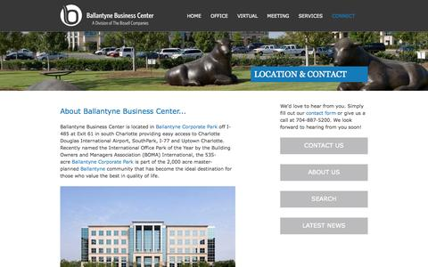 Screenshot of Contact Page ballantynebusinesscenter.com - Contact Us | Ballantyne Business Center - captured Oct. 29, 2014