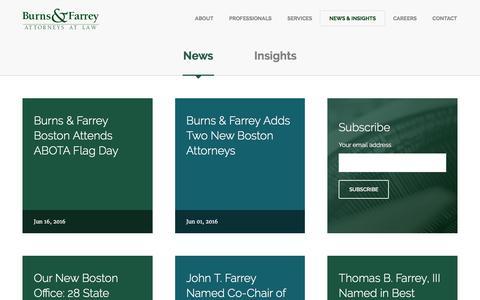 Screenshot of Press Page burnsandfarrey.com - Burns & Farrey - captured Nov. 23, 2016