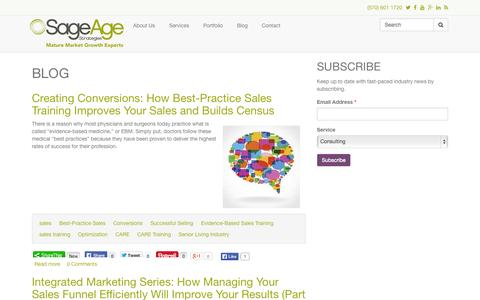 Screenshot of Blog sageagestrategies.com - Blog | Sage Age Strategies - captured Oct. 29, 2014