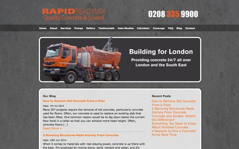 Screenshot of Blog rapidreadymix.co.uk - Rapid Ready Mix – Concrete Blog Rapid Ready Mix - Concrete Blog » Just another WordPress site - captured Oct. 9, 2014