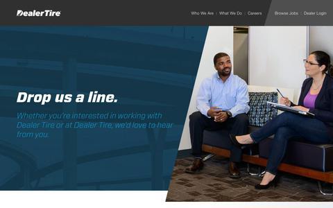 Screenshot of Contact Page dealertire.com - Contact - Dealer Tire - captured Oct. 12, 2017