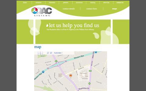 Screenshot of Maps & Directions Page dac.co.za - Maps - captured Nov. 23, 2016