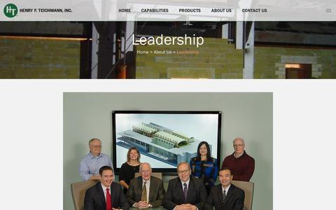 Screenshot of Team Page hft.com - Leadership - Henry F. Teichmann, Inc. - captured Nov. 6, 2016