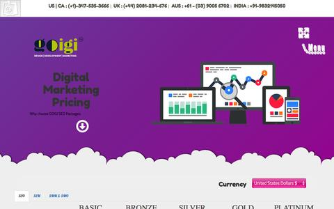 Screenshot of Pricing Page goigi.com - Affordable SEO Packages - eCommerce SEO Price - captured Dec. 28, 2016