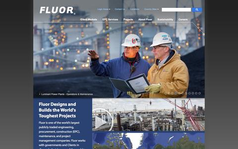 Fluor – Global Engineering Construction Company – EPC Services