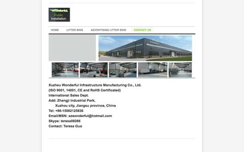 Screenshot of Contact Page weebly.com - Contact US - Xuzhou Wonderful Infrastructure Manufacturing Co., Ltd. - captured Oct. 27, 2014