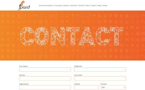 Screenshot of Contact Page jpard.com - Contact | Jpard Solutions - captured Jan. 9, 2016