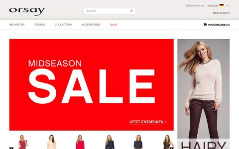 Screenshot of Home Page orsay.com - ORSAY Online Shop - Mode, Kleidung, Accessoires - täglich neu - captured Sept. 23, 2014