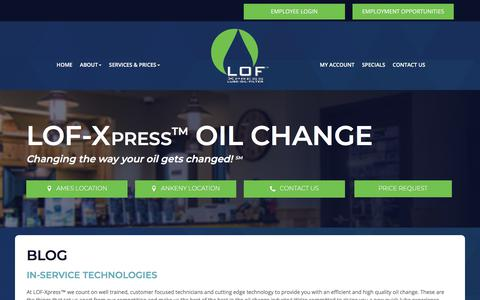 Screenshot of Blog lof-xpress.com - Blog | LOF Xpress™ - captured Sept. 26, 2018