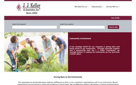 Screenshot of Support Page jjkeller.com - Community - captured Oct. 22, 2019