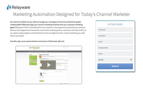 Screenshot of Landing Page relayware.com - Partner Marketing Pack Video | Relayware - captured Aug. 18, 2016