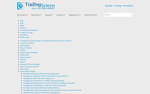 Screenshot of Site Map Page tradingscreen.com - TradingScreen Sitemap - captured Aug. 16, 2016