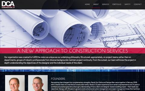 Screenshot of About Page dcaaustin.com - About | DCA Construction - captured Nov. 3, 2014