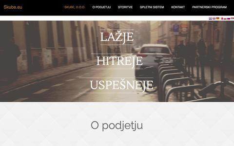Screenshot of Home Page skube.eu - Skube.eu - captured Oct. 6, 2014