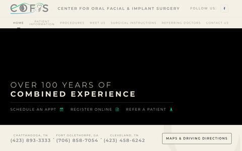 Screenshot of Home Page chattanoogaoms.com - Chattanooga Oral Surgeon | Cleveland Oral Surgery | Oral Surgeon in Chattanooga - captured Oct. 31, 2018