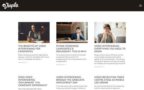 Screenshot of Blog vieple.com - Blog — Vieple | Video Interviewing Platform - captured Oct. 20, 2017