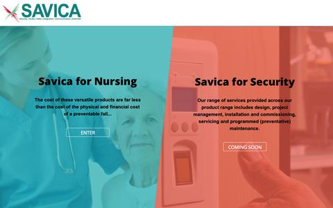 Screenshot of Home Page savica.com.au - Savica - captured Aug. 2, 2015
