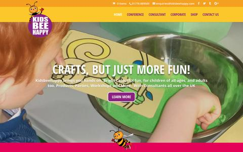 Screenshot of Home Page kidsbeehappy.com - Arts and Crafts Activities and Entertainment with Kids Bee Happy - captured Oct. 15, 2018