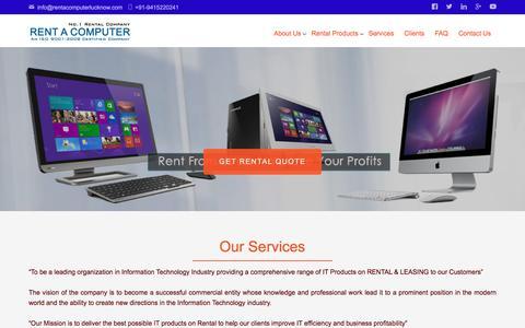Screenshot of Services Page rentacomputerlucknow.com - Services   Rent A Computer - captured Oct. 4, 2017