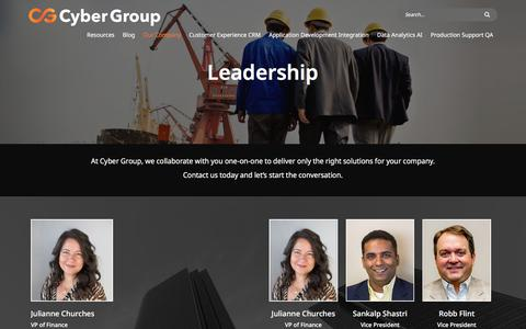 Screenshot of Team Page cygrp.com - Leadership | Cyber Group - captured July 2, 2019