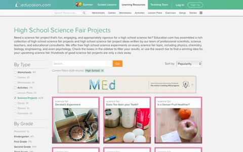 High School Science Fair Projects | Education.com