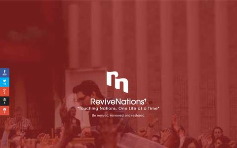 Screenshot of Home Page revivenations.org - Home - Revive Nations - captured Oct. 1, 2015