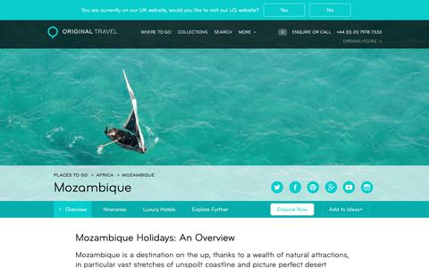 Luxury Holidays Mozambique | Safari & Diving Holidays