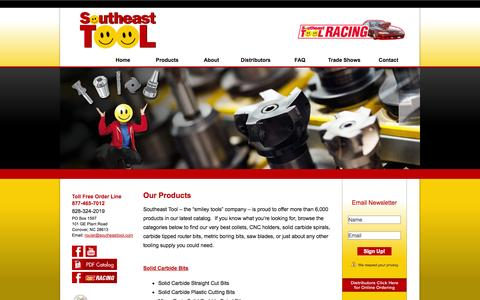 Screenshot of Products Page southeasttool.com - Carbide Tipped Router Bits, Cutting Tools, Metric Drill Bits & More   Southeast Tool - captured Oct. 26, 2014