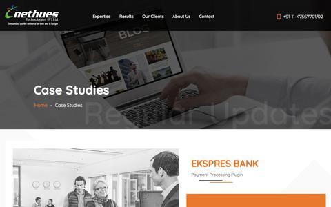 Screenshot of Case Studies Page nethues.com - Case Studies – Nethues - captured Jan. 21, 2018