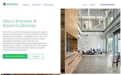 Screenshot of Press Page evernote.com - Press & Brand Guidelines | Evernote - captured Oct. 28, 2017