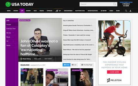 Screenshot of Team Page usatoday.com - Celebrity Photos, Videos and Interviews - USATODAY.com - captured Feb. 11, 2016