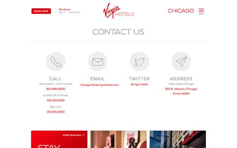 Screenshot of Contact Page virginhotels.com - Contact Virgin Hotels Chicago - captured April 2, 2017