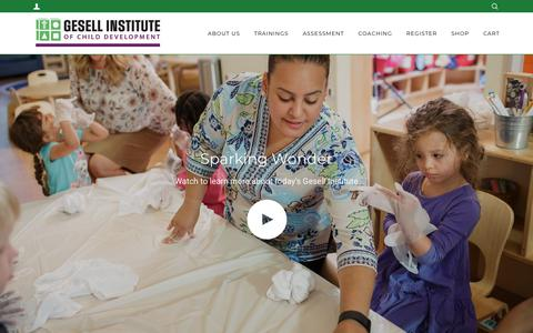 Screenshot of Home Page gesellinstitute.org - Gesell Institute of Child Development - captured Sept. 28, 2018