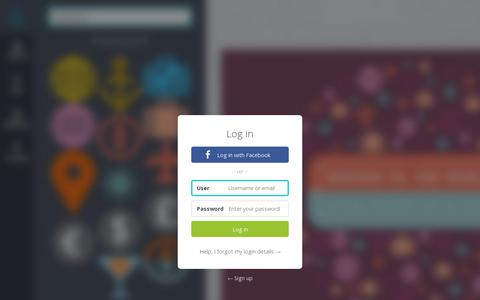 Screenshot of Login Page canva.com - Canva – Amazingly simple graphic design for blogs, presentations, Facebook covers, flyers and so much more. - captured July 19, 2014